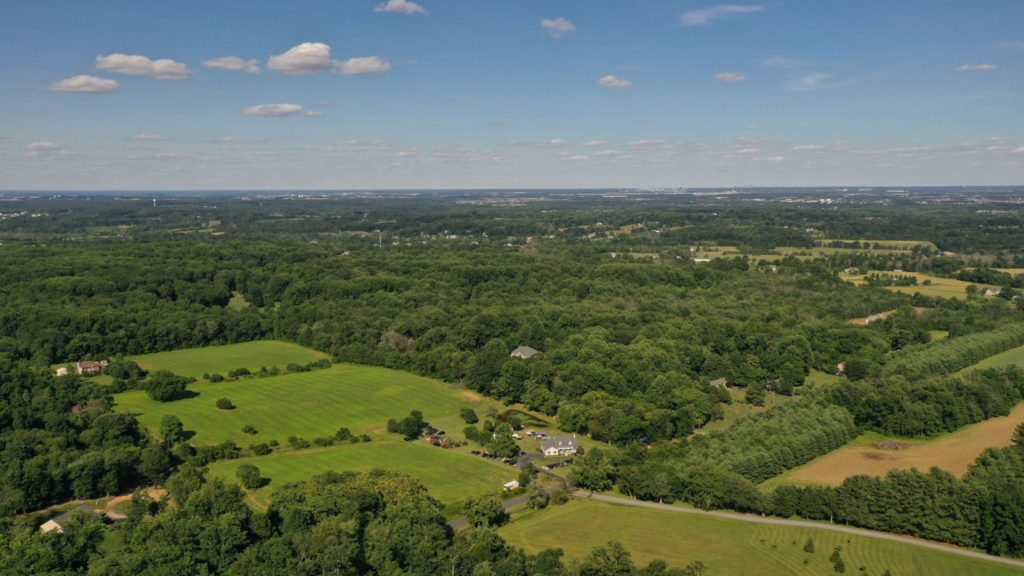 drone photo of loudoun county hills
